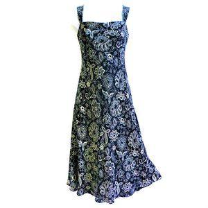 Ralph Lauren 90s Dress Silk Lined Floral Sheath S